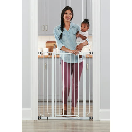 Regalo Extra Tall Easy Step Walk Thru Baby Gate, White](baby gate black friday deals)