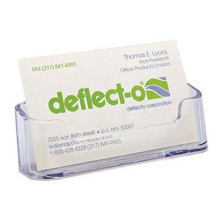 Deflect o desktop business card holder plastic 2 pack clear deflect o desktop business card holder plastic 2 pack clear colourmoves Choice Image