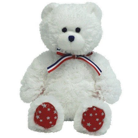 Beanie Babies Uncle Sam   Bear White  Official Product From Tys Wildly Popular Beanie Babies Collection By Ty
