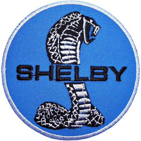 - SHELBY 500 Gt Cobra Mustang Ford Car Auto Logo Polo CS03 Embroidered Patch 3 inches Logo Sew Ironed On Badge Embroidery Applique Patch.
