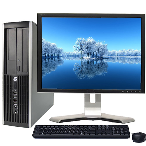 """HP Desktop Computer Bundle Tower PC Core 2 Duo Processor 4GB RAM 160GB Hard Drive DVD-RW Wifi with Windows 10 and a 19"""" LCD Monitor-Refurbished Computer with 1 Year Warranty!"""