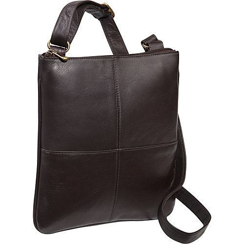 Le Donne Leather Crossbody E-Reader/iPad Bag