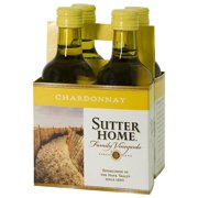 Sutter Home Chardonnay Wine, 4 pack, 187 mL