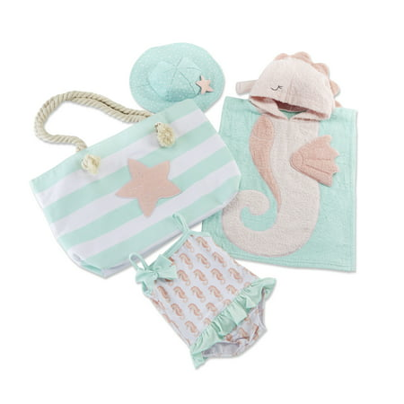 Seahorse Beach Gift Set with Canvas Tote for Mom, 4 piece - Seahorse For Baby