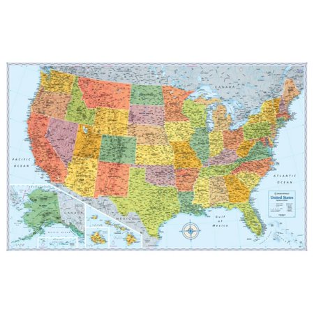 Find A Map Of The United States.Rand Mcnally Signature United States Map Giant Poster 50x50
