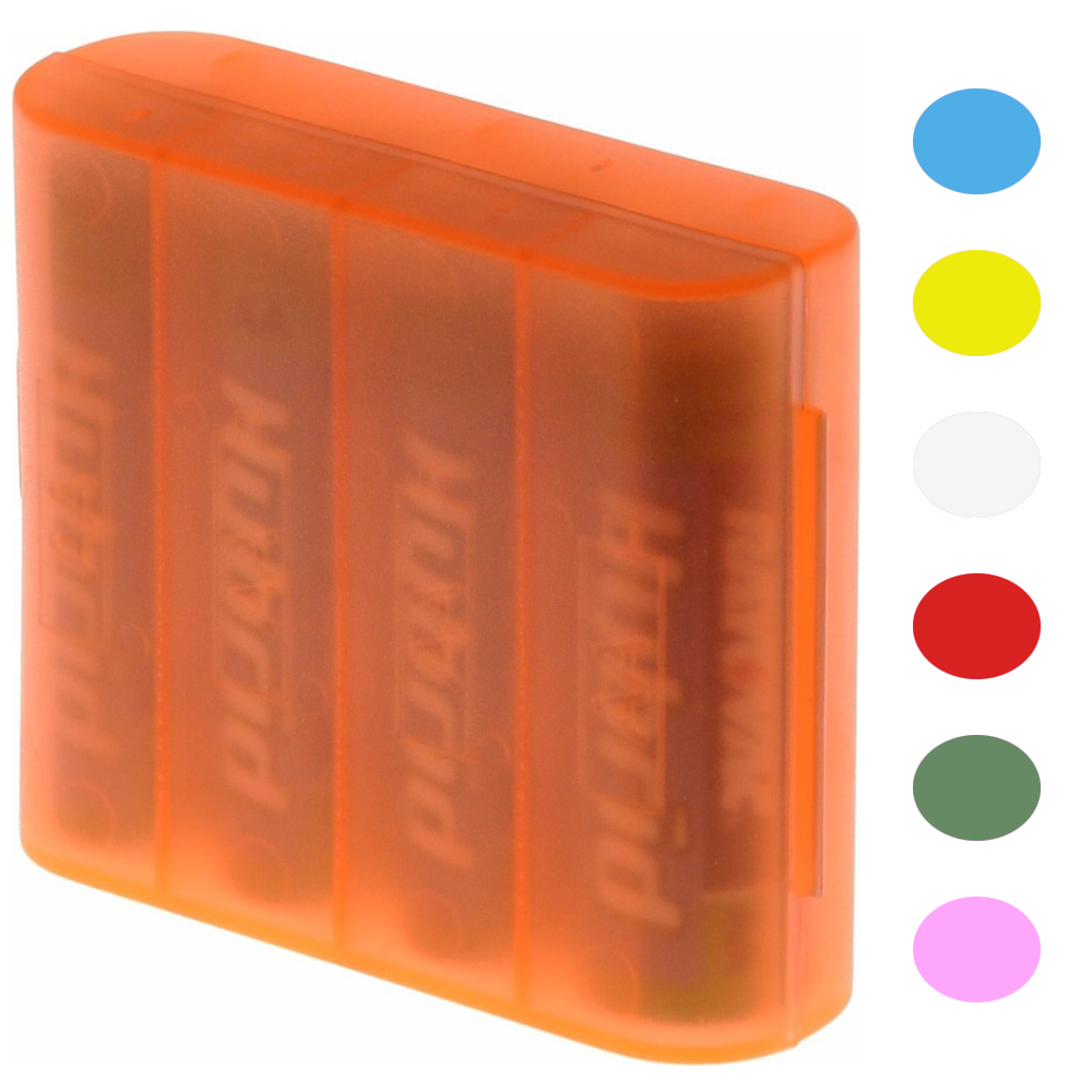 Four AA Battery Storage Case (Color May Vary)