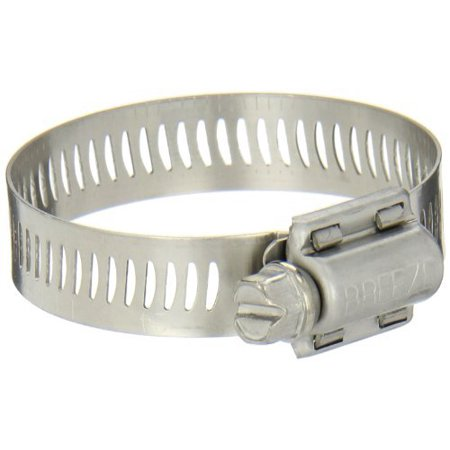 "Breeze Power-Seal SS Hose Clamp, Worm-Drive, SAE Size 28, 1-5/16 to 2-1/4 Dia, 1/2 Wd. (10EA) Size: 1-5/16"", #62028"