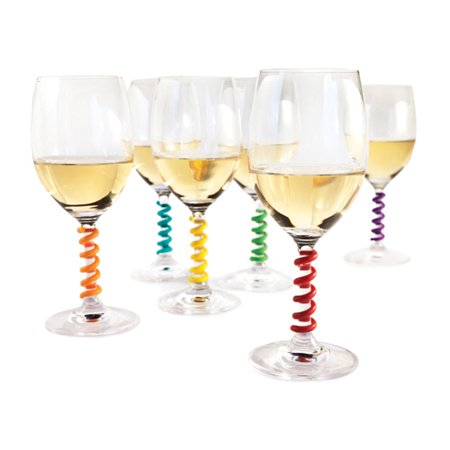 Stem Springs™ Wine Charms (Set of 6) by (Holiday Wine Charms)