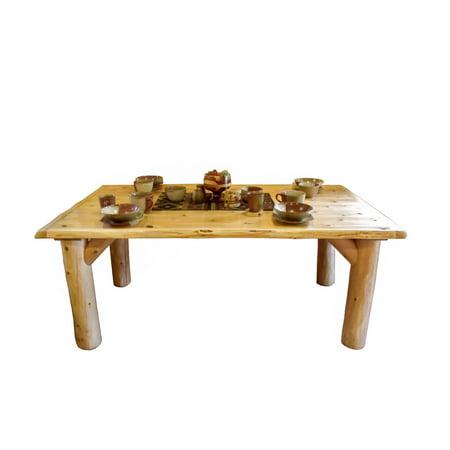 Pleasant Furniture Barn Usa Rustic White Cedar Log Dining Table Machost Co Dining Chair Design Ideas Machostcouk