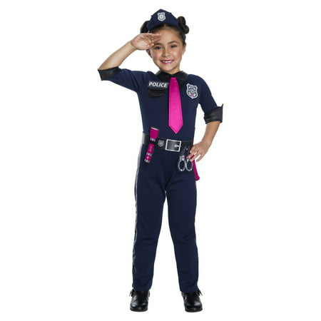 Girls Barbie Police Officer Halloween Costume