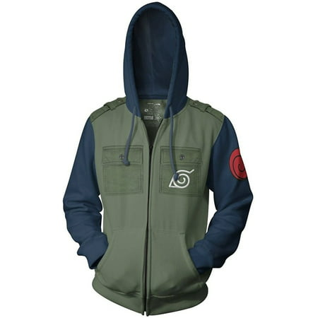 Spiderman Hoodie Mens (Naruto Kakashi Cosplay Military Adult Fleece Zip Up Hoodie)