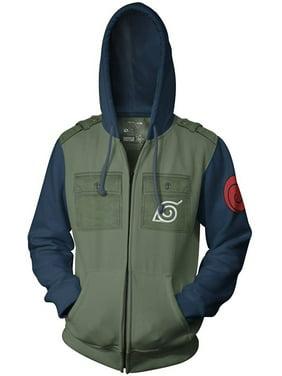 2424e6b816588 Product Image Naruto Kakashi Cosplay Military Adult Fleece Zip Up Hoodie  Sweatshirt. Ripple Junction