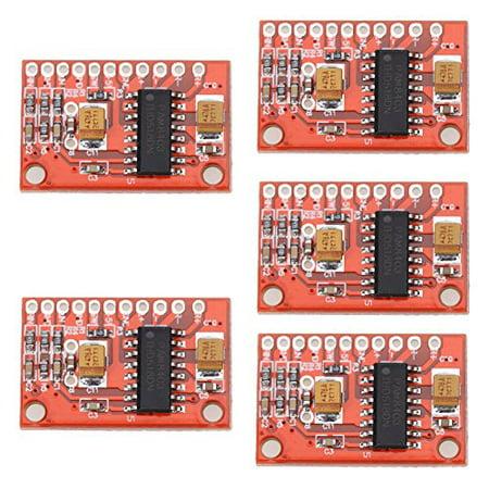 Alloet New 5 Pcs Mini Digital 3W x 2 Audio Amplifier Board USB DC 5V Power  Supply