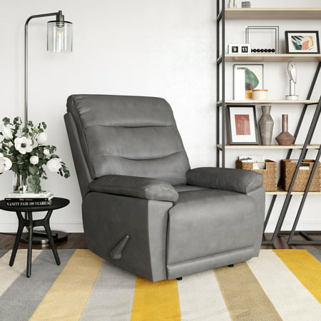 Relax A Lounger Lincoln Faux Leather Big and Tall Manual Recliner