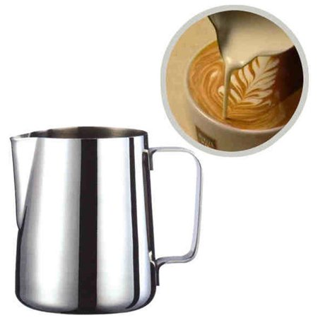 OkrayDirect Well Stainless Steel Milk Craft Coffee Latte Frothing Art Jug Pitcher Mug Cup - Halloween Milk Jug Faces