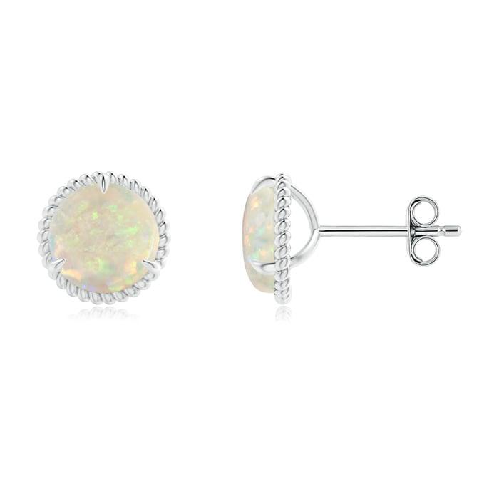 Angara Rope Framed Claw-Set Opal Martini Stud Earrings vUtcD