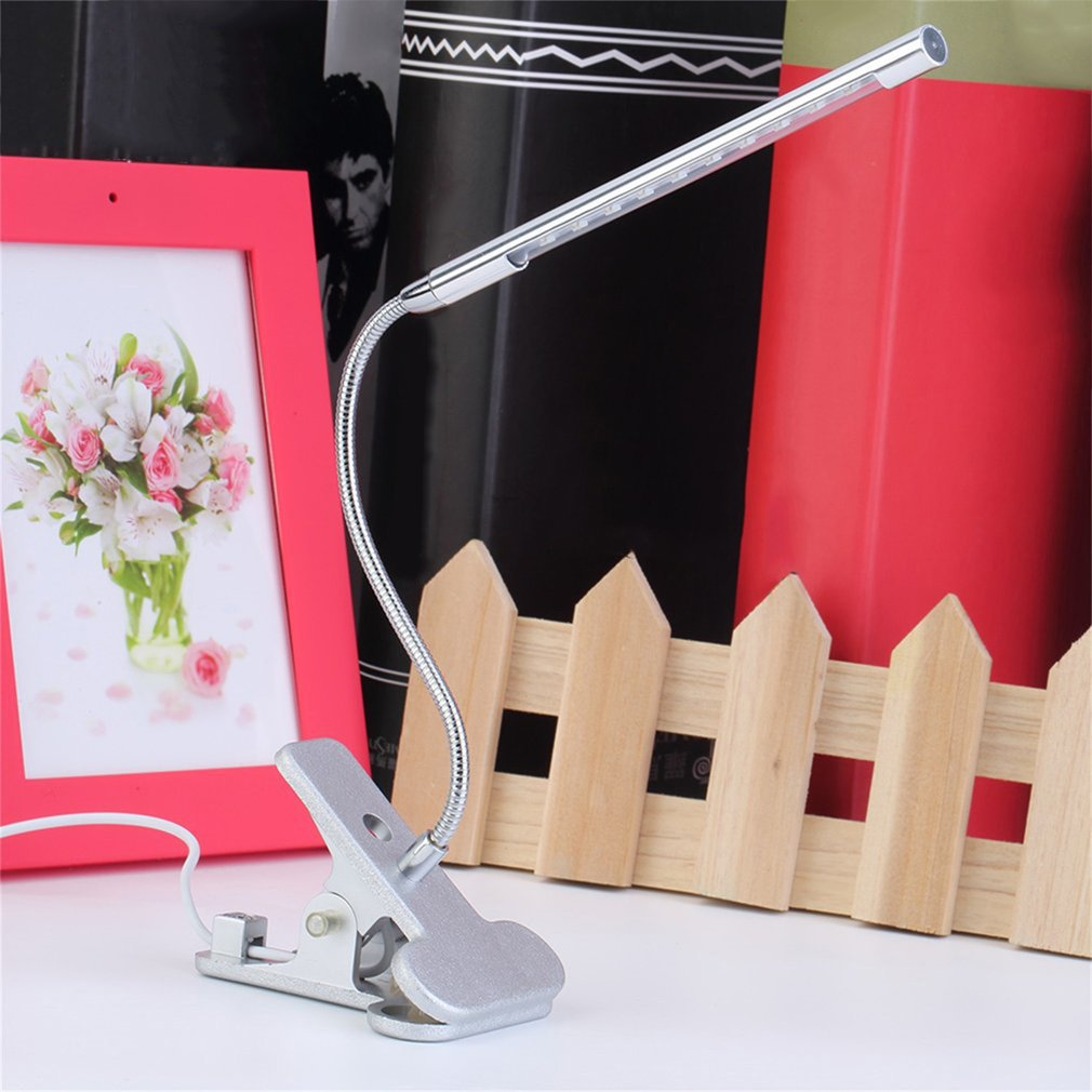 2018 Desktop Decorative Lights Clip-On 10 Led Usb Light Flexible Gooseneck Reading Touch Desk Table Lamp by YKS
