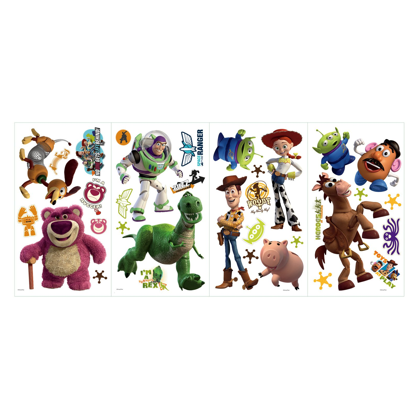 RoomMates Disney Pixar Toy Story 3 Peel & Stick Wall Decals - Glow in the Dark