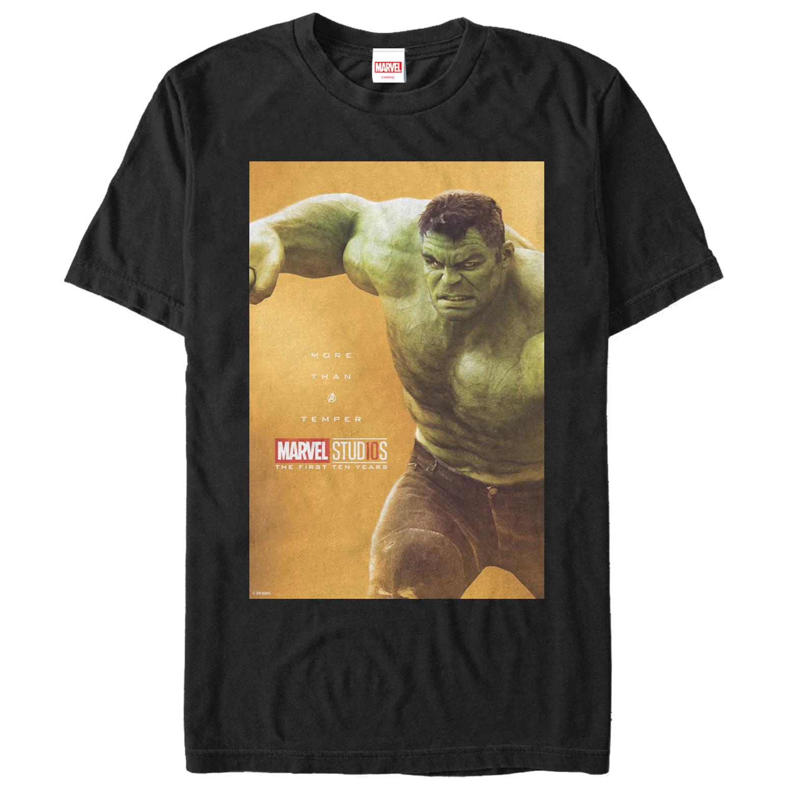Marvel Men's 10 Years Anniversary Hulk T-Shirt