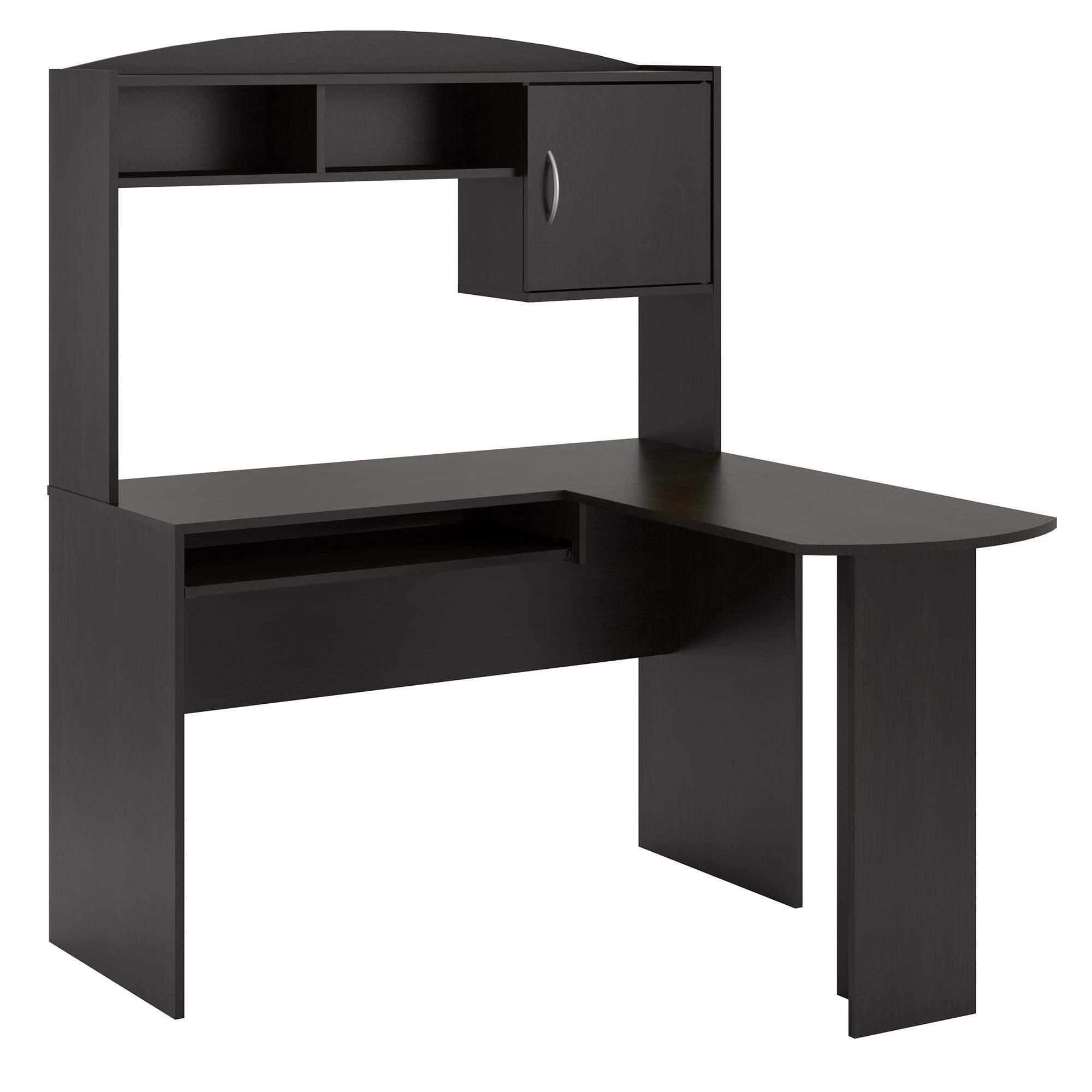 L Shaped Desk With Hutch Home Office Pc Table Student