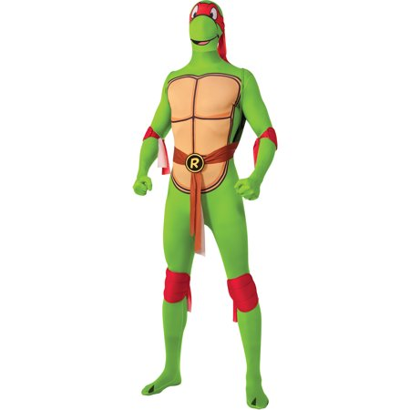Mens Teenage Mutant Ninja Turtles Raphael 2nd Skin Full Body Jumpsuit Costume - Full Body Catsuits