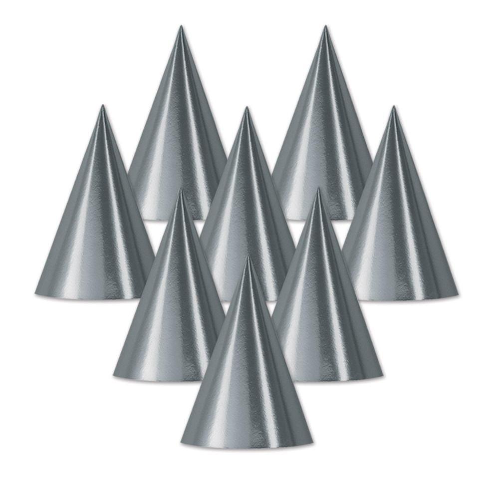 (48ct) Foil Cone Hat