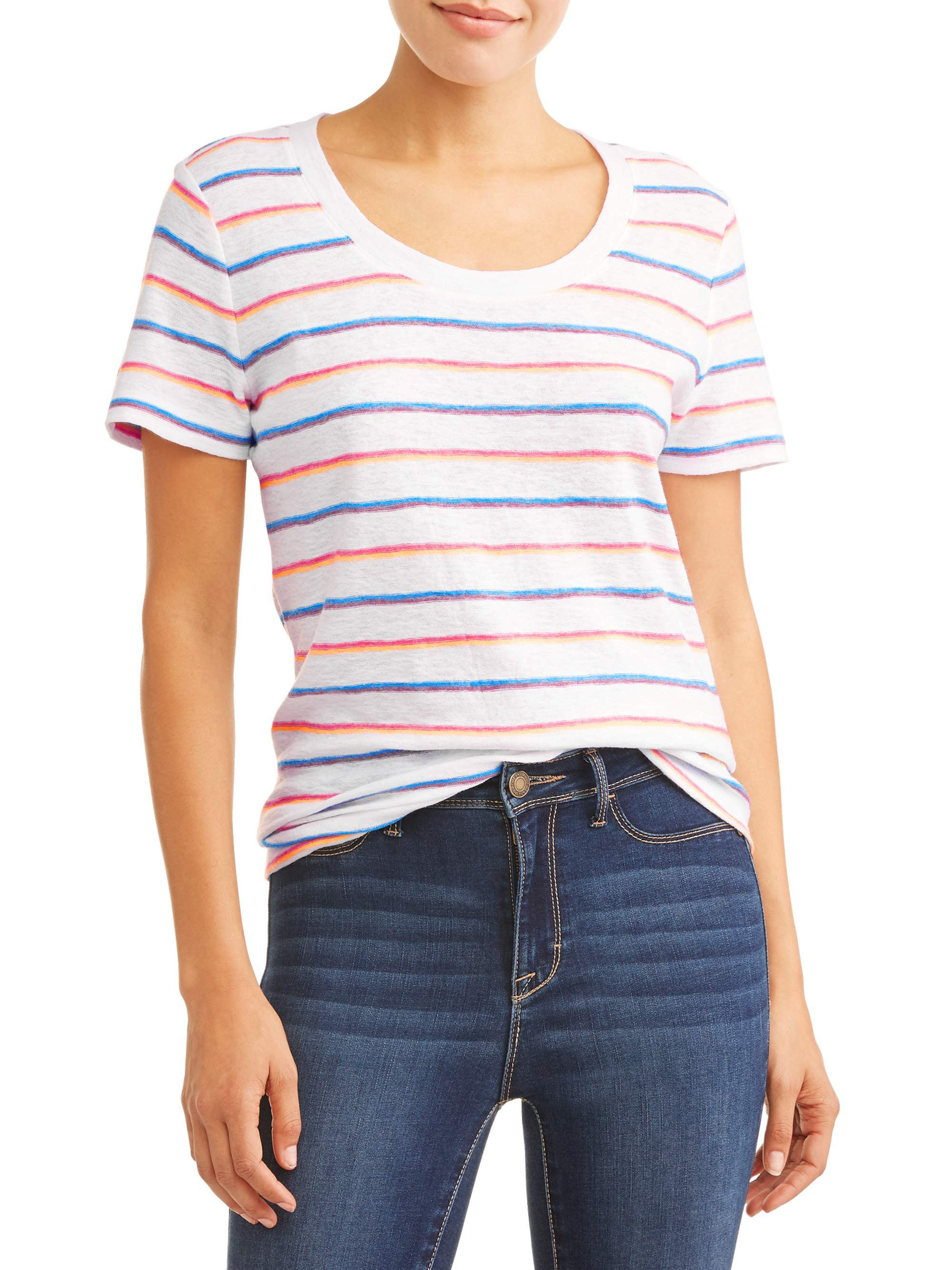 Women's Short Sleeve Striped T-Shirt