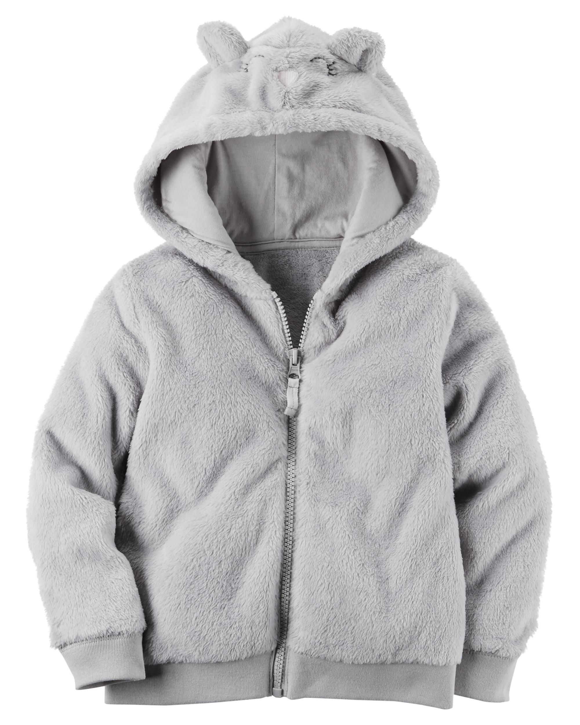 Carter's Baby Girl's Fuzzy Mouse Hoodie 12 Months
