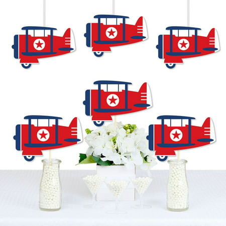 Taking Flight - Airplane - Decorations DIY Vintage Plane Baby Shower or Birthday Party Essentials - Set of