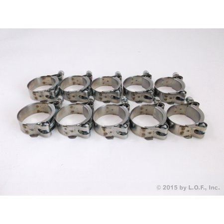 """10x Premium 304 Stainless Steel T-Bolt Turbo Silicone Hose Clamp 1.5"""" 38-44mm"""