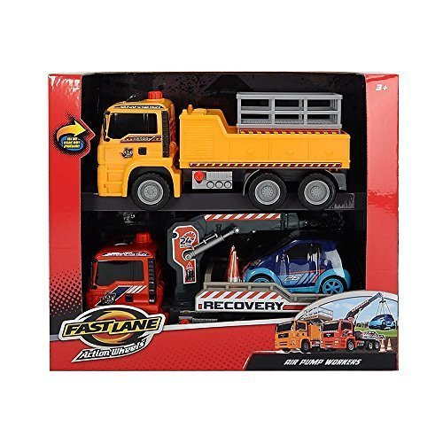 Toys 'R' Us Fast Lane Pump Action Worker with Crane Truck...