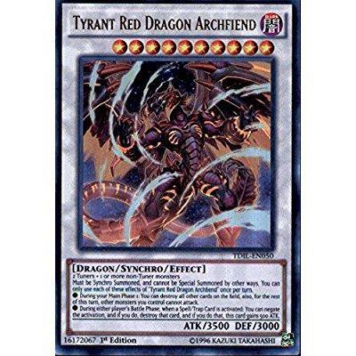 Yu-Gi-Oh! - Tyrant Red Dragon Archfiend (TDIL-EN050) - The Dark Illusion - 1st Edition - Ultra Rare