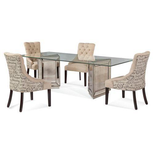 walmart mainstays 5 piece glass top metal dining set gallery