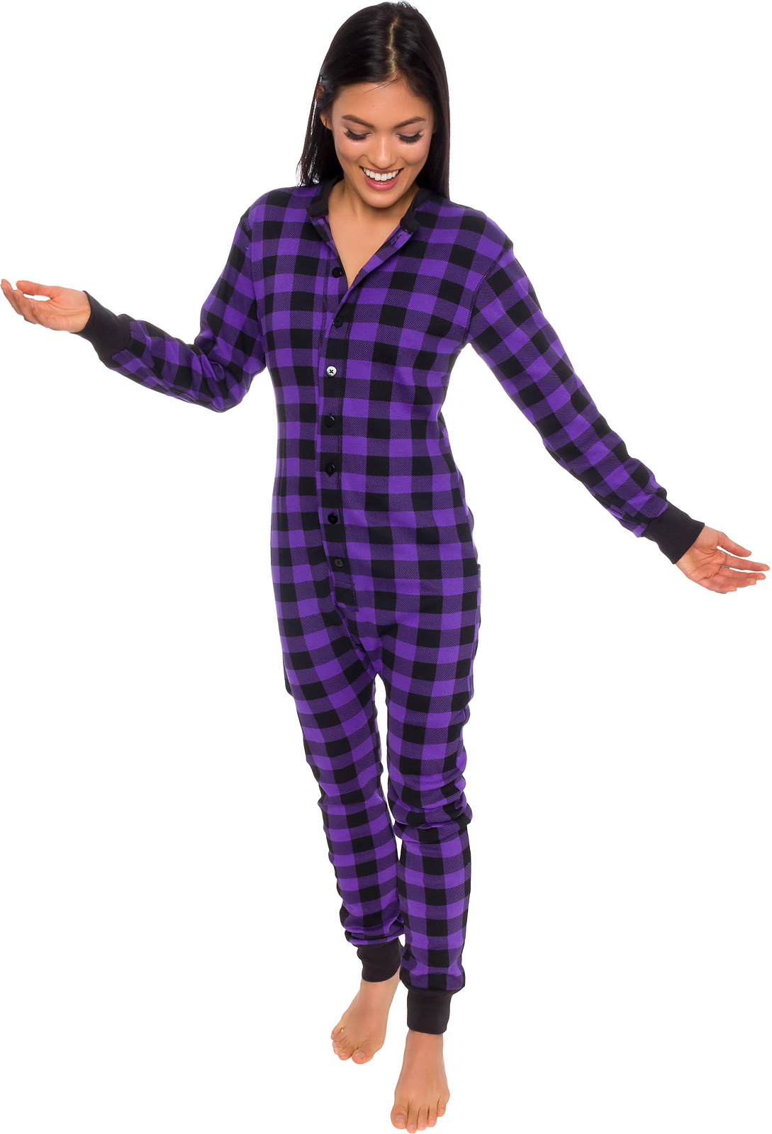 12ecdee8fa43 Silver Lilly - Silver Lilly Unisex Adult Plaid Thermal One Piece Union Suit  Pajamas w  Drop Seat - Walmart.com