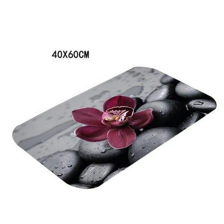 Home Outdoor Cobblestone Floor Mat, Non-Slip Rugs Doormat Kitchen Carpet 16