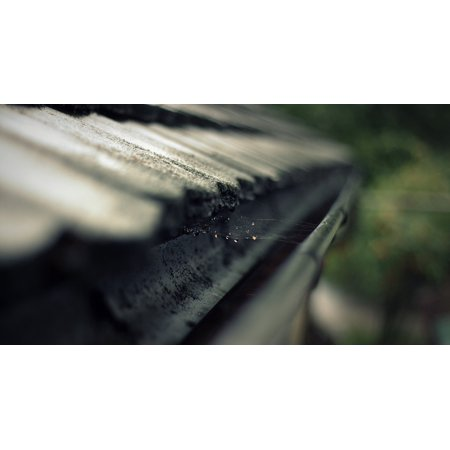 Canvas Print Gutter Roof Drip Rain Gutter Cobweb Network Stretched Canvas 10 x
