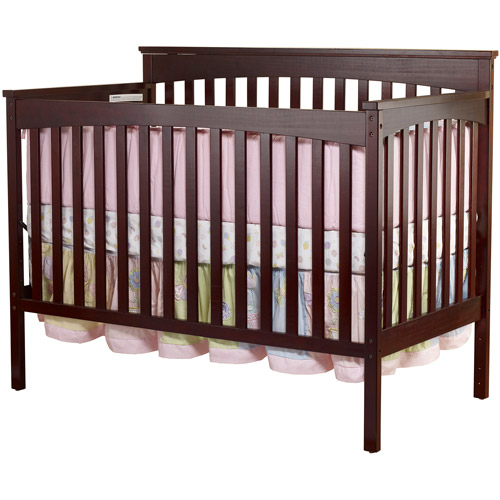 Sorelle Annie Petite 3-in-1 Convertible Crib Cherry