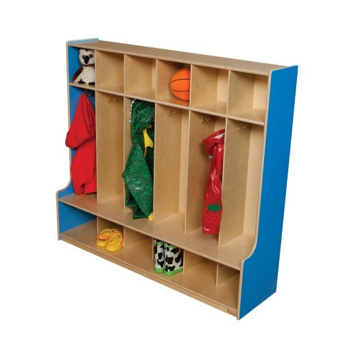 Wood Designs 6 Section Seat Locker