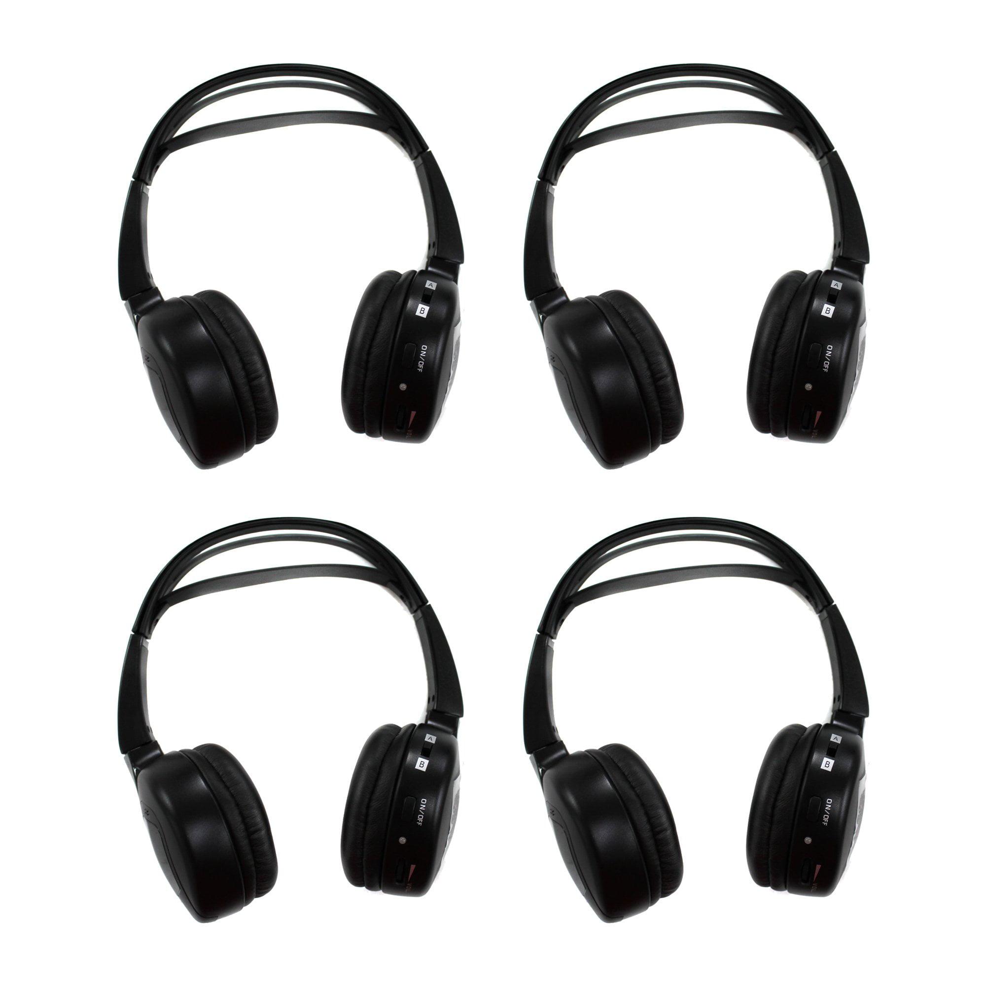Audiovox Flat Fold 2-Channel Infrared Audio Wireless Headphones (4 Pack) | IR2 by Audiovox