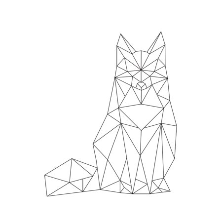 Woodland Forest Fox Geometric Wall Sign Home Decoration Small Size, 7.5x10.5 Inch - Woodland Fox
