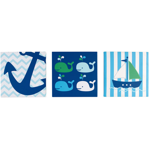 Little Bedding by NoJo Splish Splash 3-Pack Wall Art