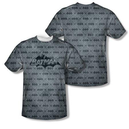 - Batman Men's  Classic Bat Argyle Sublimation T-shirt White