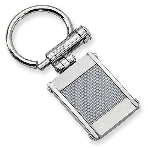 Chisel Stainless Steel Grey Carbon Fiber Key Ring SRK103 by Chisel