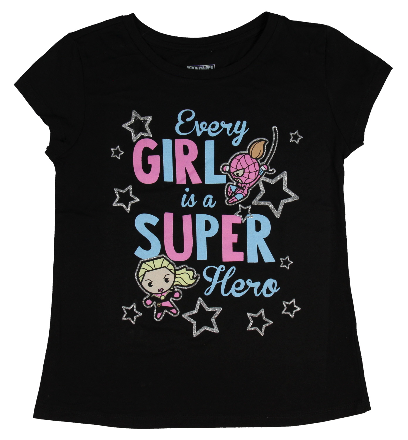 Marvel T Shirt Every Girl Is A Superhero Captain Marvel Spider Gwen Girl's Top