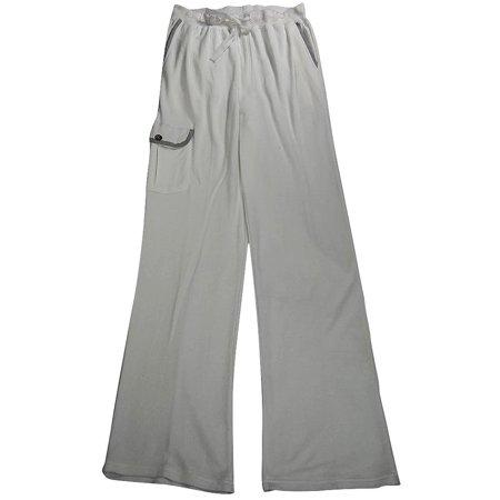 Majestic International Mens Cotton Cargo Sweat Sleep Lounge Pajama Pant, 36897 Ivory / Medium - Ivory Lounge Set
