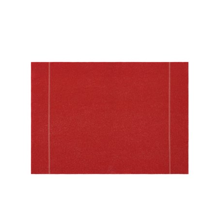 DAY DRAP Red Collection, Red Placemats for Dinner Table, Stain-Resistant, Non-Slip Dining Room Place Mats, 8 pieces ()