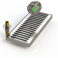 """Surface Mount Drip Tray with Drain 5"""" X 48"""" X 3 4"""" Stainless Steel # 4 Brushed Finish by Drip Trays"""