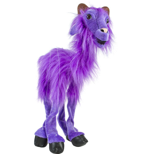 Sunny Purple Goat Marionette