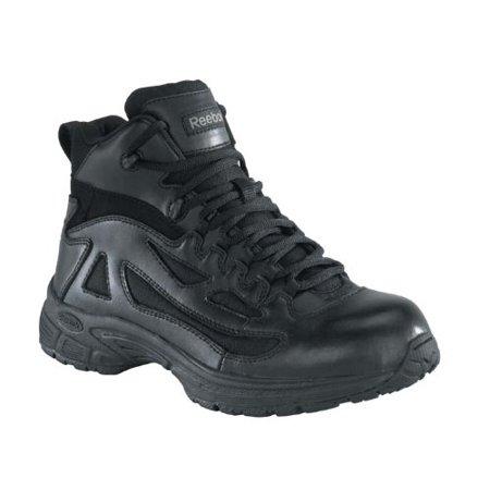 Reebok Mens Black Leather Nylon Tactical Boots Rapid Response Rb Soft Toe 9 5 W