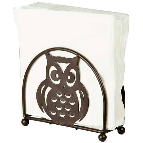 Home Basics Napkin Holder, Bronze Owl